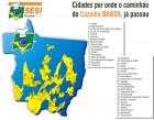 Mapa  de atendimento - Cozinha Brasil