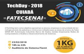 1º TechDay Cuiabá ocorre nesta sexta-feira