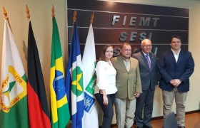 Embaixador da Alemanha visita Fiemt para conhecer potencial da indústria de MT