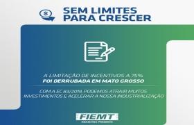 Limitação de incentivos fiscais a 75% é derrubada em Mato Grosso