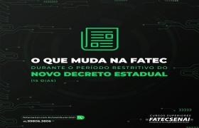 Fatec Senai MT informa novo hor�rio de funcionamento conforme Decreto Estadual