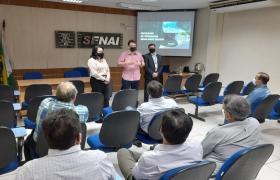 Industri�rios conhecem portf�lio de cursos e estrutura de atendimento da Fatec Senai