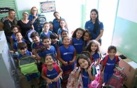 Doação de mochilas - Sesiescola Várzea Grande