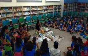 Sesi Escola Cuiabá realiza atividade de arte em homenagem aos 300 anos da capital