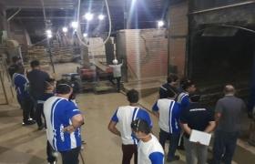 Visita à fábrica de cerâmica com alunos da Fatec
